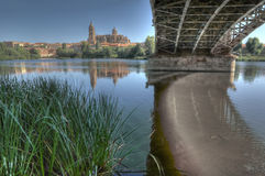 Under the Bridge of Sanchez Fabres in Salamanca Royalty Free Stock Photography