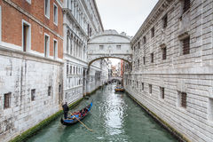 Under the Bridge of Sighs Stock Image