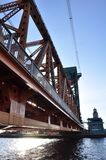 Under the bridge. The size of these things is astonishing Royalty Free Stock Photo