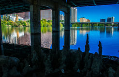Under the Bridge South Congress Bat Poop Bridge Guano Mexican Bats Stock Images