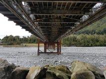 Under a bridge. Underneath a bridge in Franz Josef township Royalty Free Stock Photo