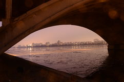 Under the bridge. Of VRN Royalty Free Stock Images