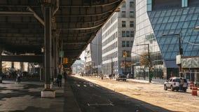 Under bron FDR-drev fotografering för bildbyråer
