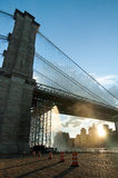 Under Brooklyn Bridge Royalty Free Stock Photography