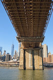 Under the Brooklyn Bridge. Royalty Free Stock Photo