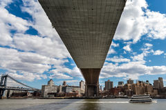 Under the Brooklyn Bridge Royalty Free Stock Photography