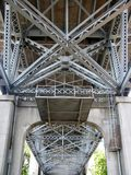 Under the Burrard Bridge Royalty Free Stock Photography