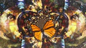 Under butterfly wings