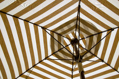 Under the canvas Umbrella. Royalty Free Stock Image