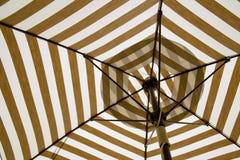 Under the canvas Umbrella. royalty free stock image