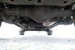 Under a Car Stock Photography