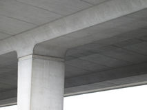 Under a cement highway Stock Image