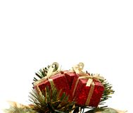 Under Christmas gifts Royalty Free Stock Photography