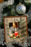 Under the christmas tree. You can find almost anything under the christmas tree at christmas night stock images