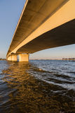 Under the Circus Bridge in Sarasota, Florida. In the morning Royalty Free Stock Image