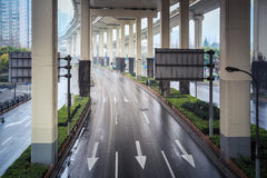 Under the city interchange Royalty Free Stock Photography