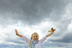 Under a cloudy sky - freedom Stock Photography