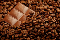 Under Coffee Beans Stock Image
