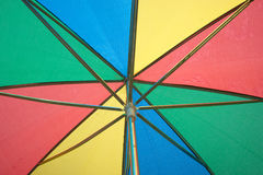 Under color sun umbrella protection Royalty Free Stock Photo