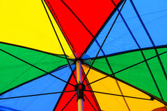 Under of colorful umbrella Stock Images