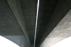 Under concrete bridge. For background Stock Photography