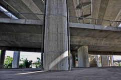 Under concrete bridge Stock Photos