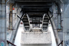 Under Concrete Bridge on Calm Water at Daytime Royalty Free Stock Photo