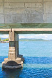 Under concrete bridge Stock Photography
