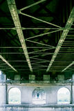 Under the concrete bridge. View on the arch Stock Photography