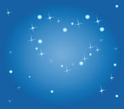 Under constellation of love Stock Photography