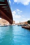 Under constitution bridge in Venice Stock Photography