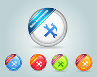 Under Constraction Vector Icon Button. Vector icons, you can change this image that it was uploaded also with eps10 file Royalty Free Stock Photos