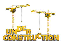 Under constrction Stock Image
