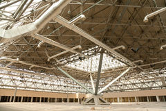 Under construction. Reconstruction pavilion in Moscow's International Exhibition Center royalty free stock images