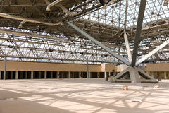 Under construction. Reconstruction pavilion for Moscow's international exhibition center stock image