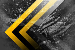 Under construction. A grunge background with yellow and black stripes, under construction theme Royalty Free Illustration