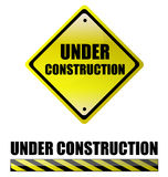 Under construction. Signs. vector file also available Stock Images
