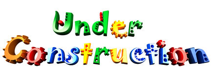 Under construction. Nicely colored under construction message, comic style and saturated colores vector illustration