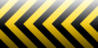 Under construction. Black yellow banner for internet website Royalty Free Stock Photography
