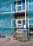 Under construction. Building under construction with special a elevator royalty free stock photo