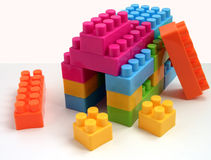 Under construction. Toy building is under construction Royalty Free Stock Photo