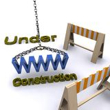 Under construction. A 3d illustration for the concept of web site under construction Royalty Free Stock Photos