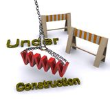 Under construction. A 3d illustration for the concept of web site under construction Royalty Free Stock Images