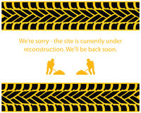 Under construction. Web site template Royalty Free Stock Photo