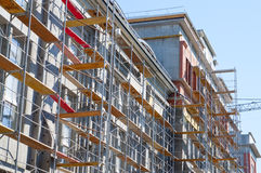 Under construction. Building under construction in sunny day Royalty Free Stock Photo