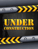 Under construction. Vector illustration - Under construction background Royalty Free Stock Photography