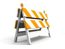 Under construction!. With traffic cones Stock Photos