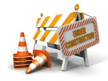 Under construction!. Under construction sign! 3d illustration Stock Photo