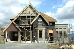 Under Construction. New home being built on eagle mountain in abbotsford, bc Royalty Free Stock Image