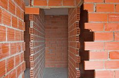 Under construction. Interior walls of apartment building Royalty Free Stock Image